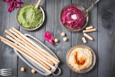 три хумуса: ярко и вкусно