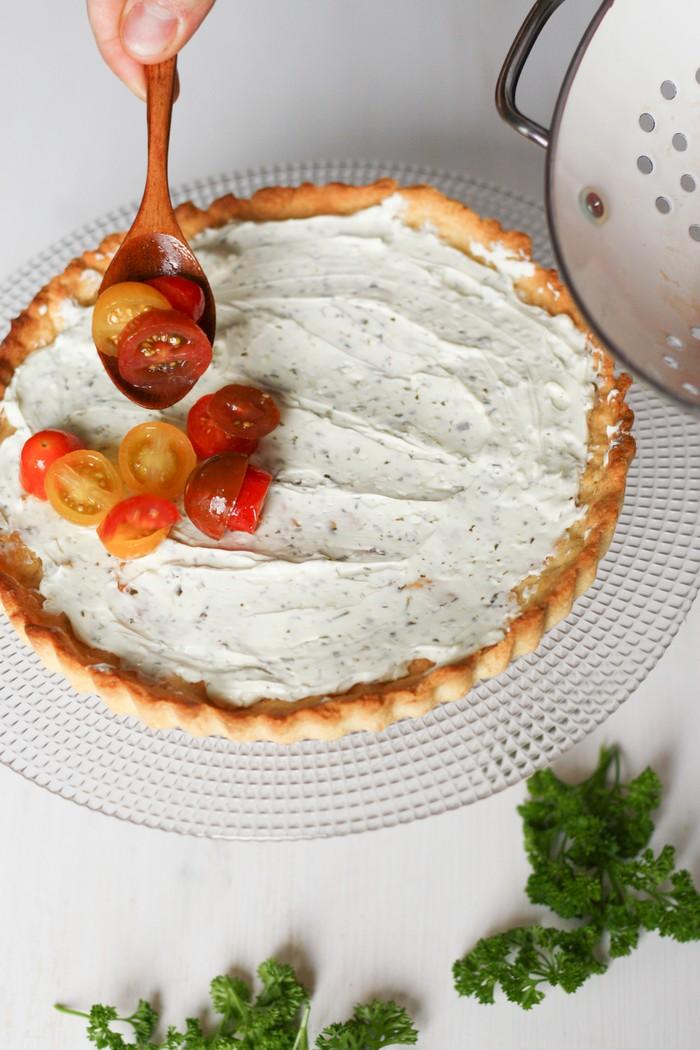 Пирог с томатами: подготовка