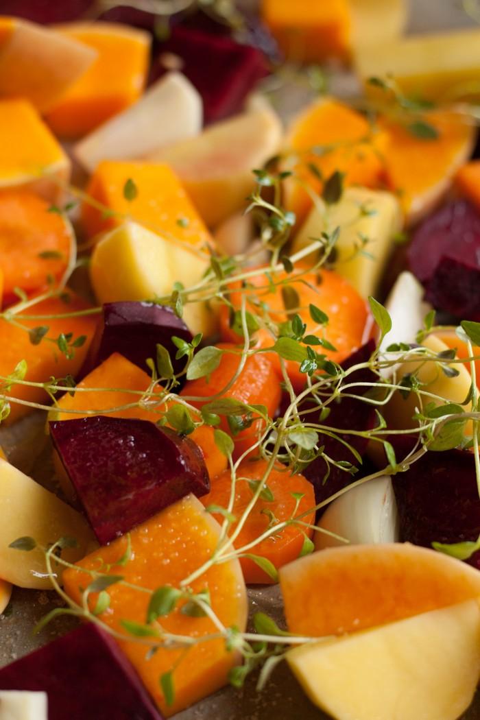 теплый салат: перед выпеканием