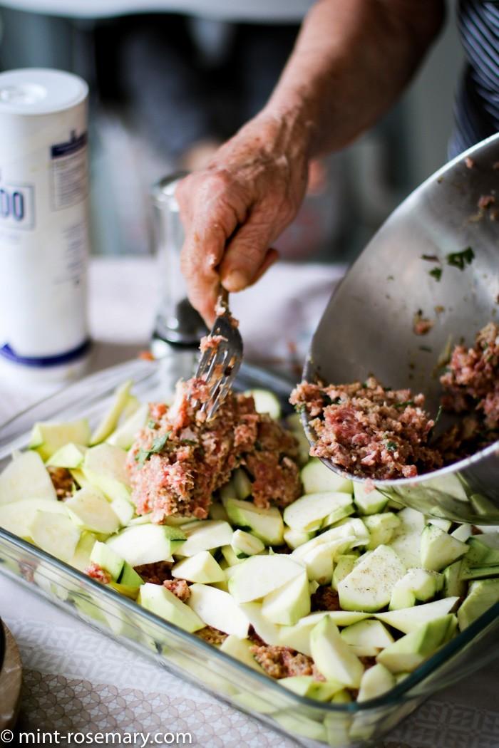 Идеи для апреля - кабачки с мясом