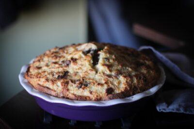Пирог из кулича готов