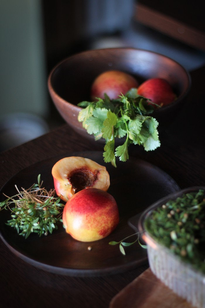 Салат из персика - ингредиенты