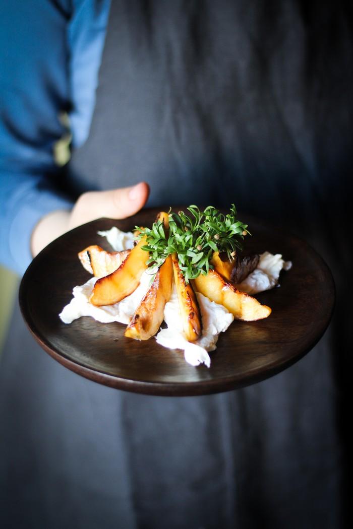 салат из персика