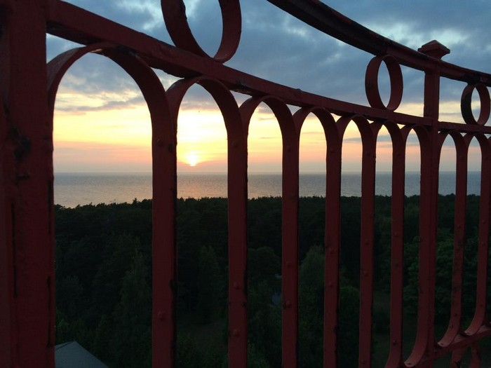 Закат на маяке