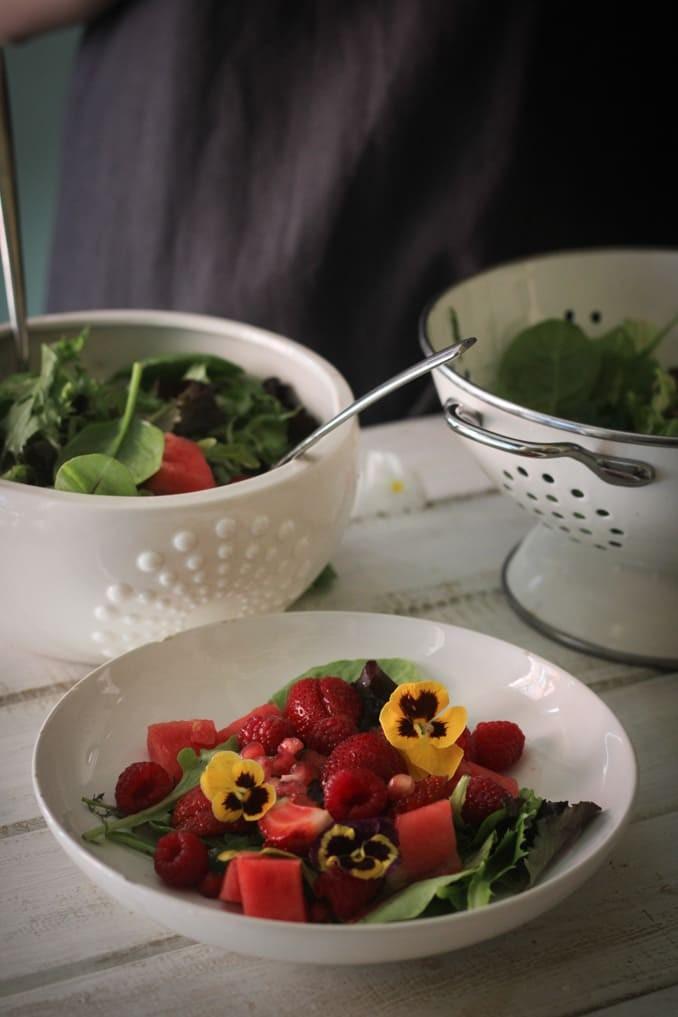 Летний салат: порционно