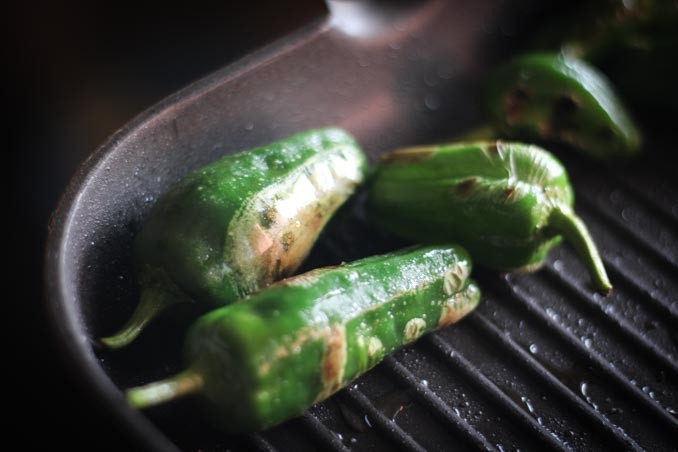 Салат с кукурузой: перцы гриль