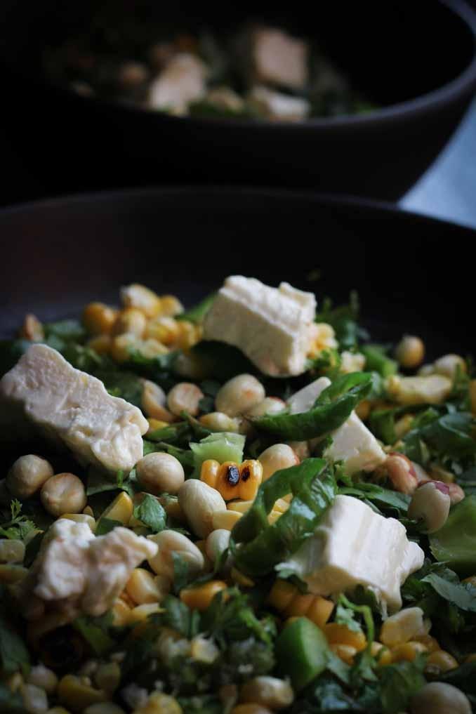 Салат с кукурузой: гриль