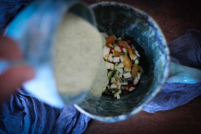Суп из цукини: сервировка