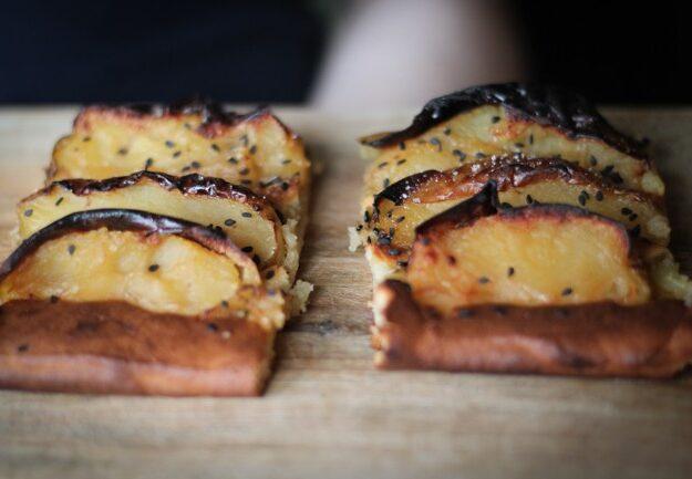 Пирог с яблоками-гриль